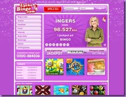 Lyckobing - Spela online bingo för 10 öre