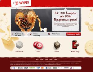 Mariabingo ger gratis spins och gratis pengar!