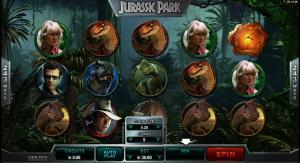 Spelautomaten Jurassic Park med 243 vinstlinjer!